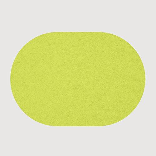 daff Filz Tischset Oval aus Merino-Wolle 34x42 cm moos Melange