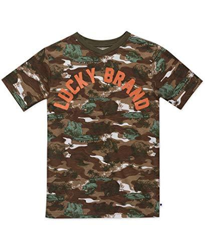 Lucky Brand Jungen Boys' Short Sleeve Graphic Tee T-Shirt, Bear Walk Tannin Braun, XL