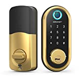 Smart Lock SMONET Bluetooth Keyless Entry Keypad Smart Deadbolt-Fingerprint...