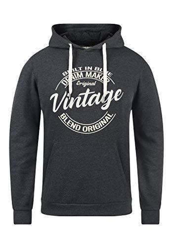 Blend Tobias Herren Kapuzenpullover Hoodie Pullover mit Kapuze, Größe:M, Farbe:Charcoal (70818)