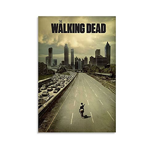 ICICLANE The Walking Dead Season 1 Most Popular TV Series Posters Canvas Art Poster and Wall Art Picture Print Modern Bedroom Posters 08x12inch(20x30cm)