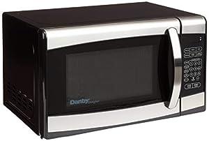 Danby Designer Countertop Microwave, 0.7 cu.ft. Black/Stainless Steel