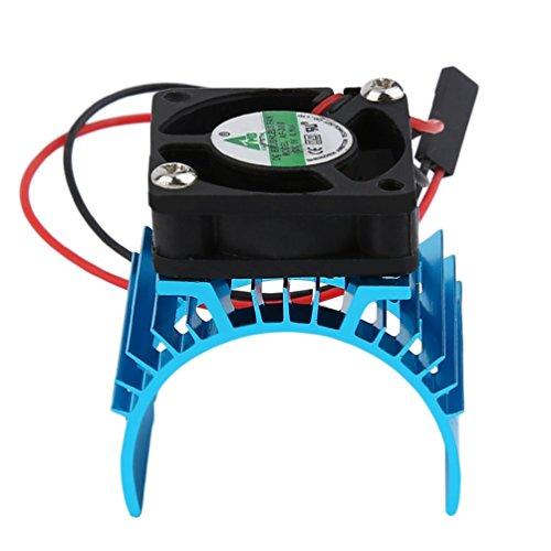 Radiador de disipador de Calor sin escobillas Duradero y refrigeración del Ventilador Aluminio 550540 3650 Cubierta del Fregadero de tamaño Motor eléctrico para el Modelo RC Hsp (Azul)