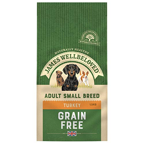Crown Pet - James Wellbeloved Dog Adult Grain Free Small Breed Turkey & Vegetables - 1.5kg - EU/UK