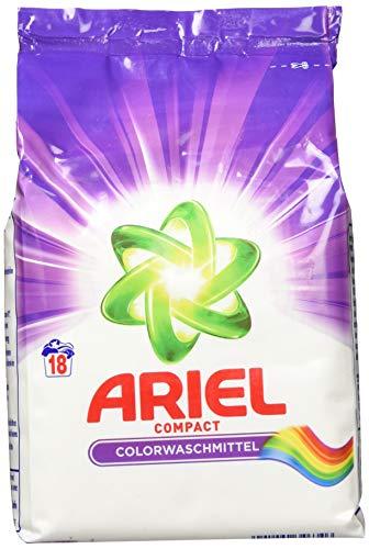 Ariel Compact Colorwaschmittel Pulver, 5er Pack (5 x 18 Waschladungen)