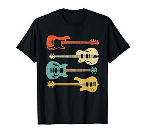 Vintage Retro Bass Gitarre T-Shirt Bassist Player Shirt