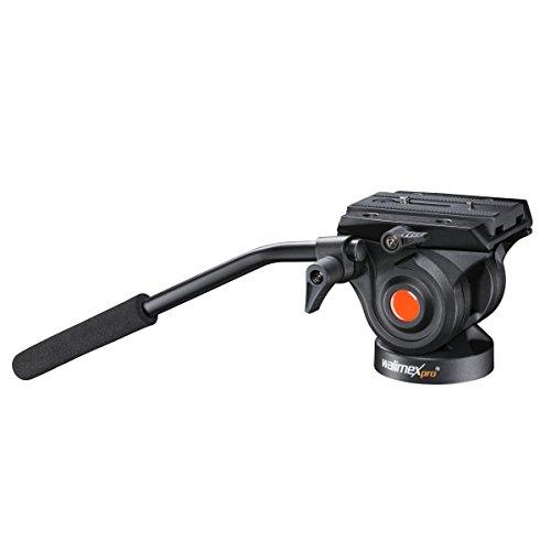 Walimex Pro Videoneiger für Video-Einbein-Stativ (Friktion, 3/8 Zoll Gewinde, Schnellwechselplatte)