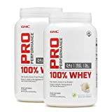 GNC Pro Peformance 100% Whey Protein Powder - Vanilla, Twin Pack, 25 Servings per Bottle, Supports Lean Muscle Recovery