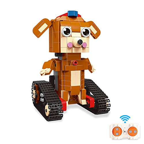 AMLINK Building Blocks Robot Toy Dog for Kids with Remote Control and APP Control, RC Robot Building Kits Learning Science STEM Projects Educational Coding Toys Gift for Boys and Girls ( 393 Pcs )