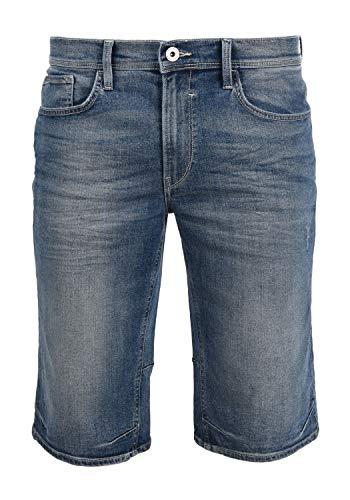 Blend Denon Pantalón Corto Vaqueros para Hombre Elástico Regular-Fit, tamaño:XL, Color:Denim Lightblue (76200)