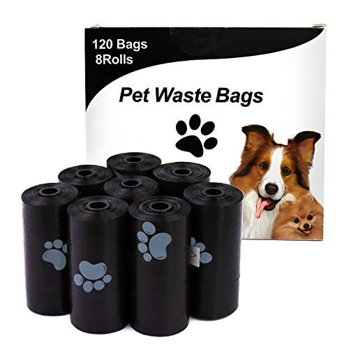 HaoDeng Dog Poop Bags Extra Thick and Strong Poop Bags for Dogs Guaranteed LeakProof 15 Doggy Bags Per Roll 8Rolls 120 Bags