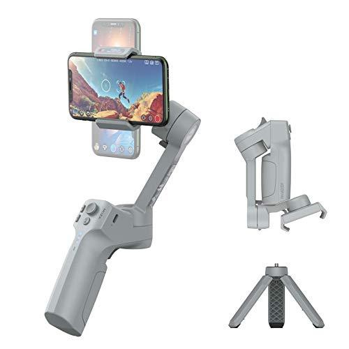 Moza Mini MX portátil y Plegable Smartphone cardán repleto de características con Anti-vibración algoritmo máximo de Carga 280g de Color Rojo Oscuro