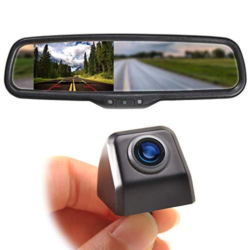 EWAY Mini Tailgate Mounting Backup Camera & 4.3'' Rear View Mirror Monitor Kit...