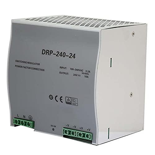 Fuente de alimentación monofásica de 240 W de tamaño pequeño de alta confiabilidad DIN-Rail fuente de alimentación de conmutación 24 V AC DC para equipos de iluminación eléctricos