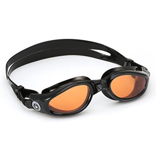 Aqua Sphere Kaiman Gafas de natación, Unisex Adulto, Lente Negro/ámbar, Talla única