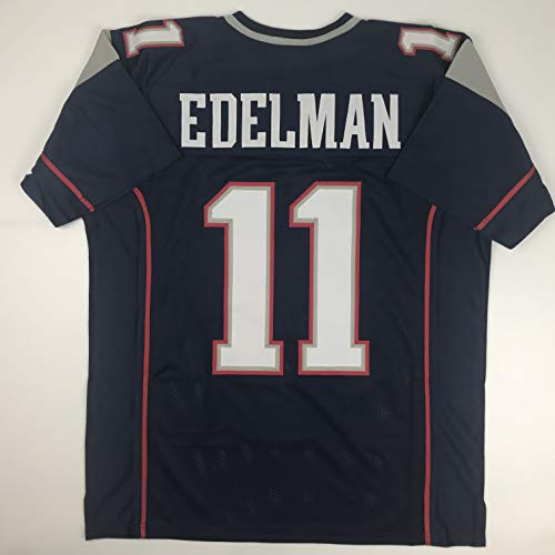 Unsigned Julian Edelman New England Blue Custom Stitched Football Jersey Size XL New No Brands/Logos