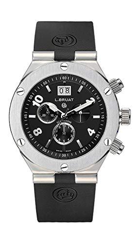 L. Bruat 406025 - Reloj de pulsera analógico para hombre...