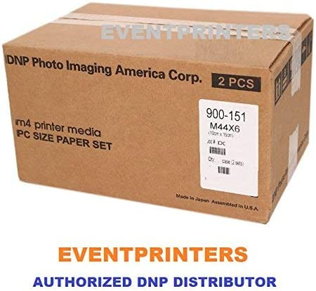 DNP M4 4X6 Printer Media (800 Prints). for use with DNP M4, M3, Altech ADS Megapixel III Citizen Systems CV01-H01 Printers. Comes with Samples of Our Photo folders! (Eventprinters Brand).