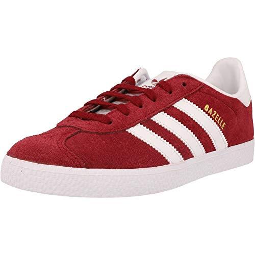 adidas Gazelle J, Scarpe da Ginnastica Basse, Rosso Red Cq2874, 38 2/3 EU