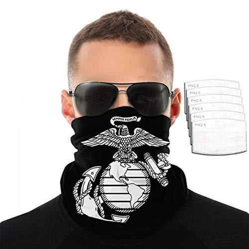Eagle Globe Anchor Usm Marine Corps Face Mask Bandana Neck Gaiter Tube Headwear Bandana, Seamless Rave Half Balaclava