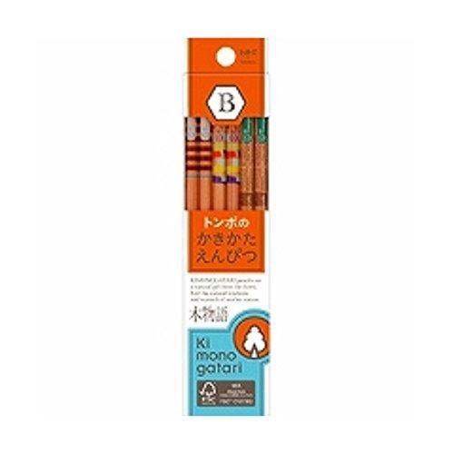 トンボ鉛筆 鉛筆 F木物語 かきかた B KB-KF03-B オレンジ 『 2セット 』