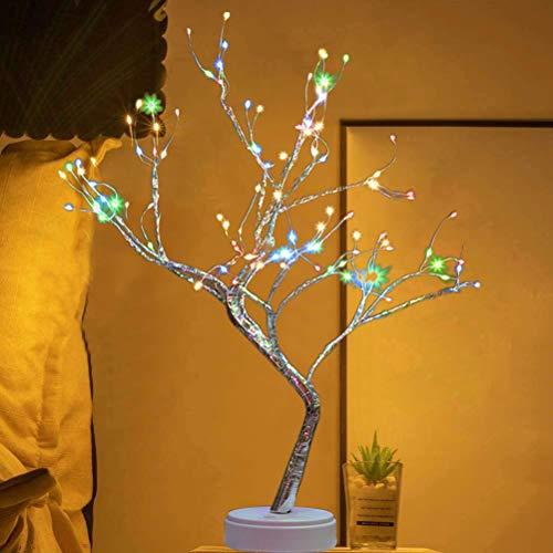 Katyma Light Tree 108 LED Flower Tree Light Window Table Decoration Lighting DIY Bonsai Tree Lamp for Wedding Bedroom Decoration