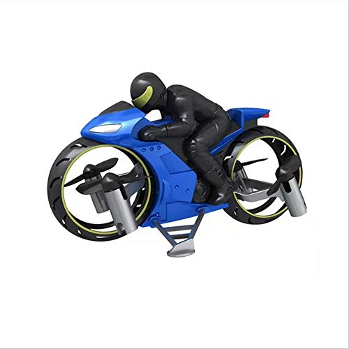 likeitwell Mini Motorrad Drohne Racing 2-in-1 Land/Luft-Modi, Fliegendes Motorrad 2.4G, Ferngesteuerte Motorrad Drohne Für Kinder, RC Multifunktional Motorrad Geschenk