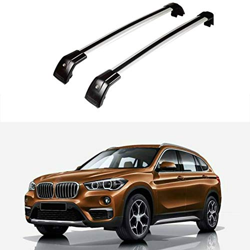 Autowell Roof Rack Cross Bar Fit for BMW X1 2010-2017 Crossbar Top Rail Luggage Carrier Lockable 90 Days Warranty