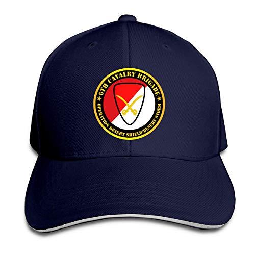 6th Cavalry Brigade Operation Desert Shield Desert Storm Adjustable Baseball Caps Vintage Sandwich Cap,Snapback Hats Women Men Adjustable Baseball Cap Hats