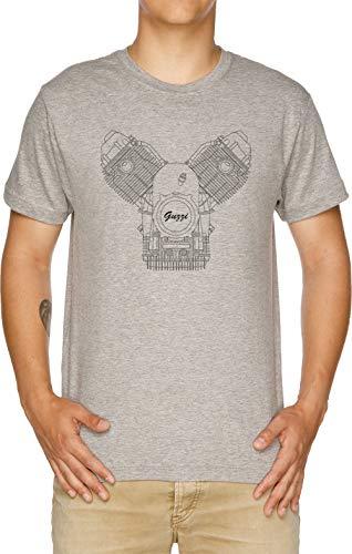 Vendax Moto Guzzi Motor Camiseta Hombre Gris