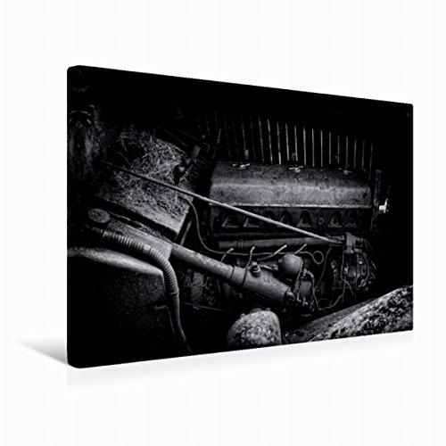 CALVENDO Premium Textil-Leinwand 45 cm x 30 cm quer, Motor | Wandbild, Bild auf Keilrahmen, Fertigbild auf echter Leinwand, Leinwanddruck: Motor eines Alvis Technologie Technologie