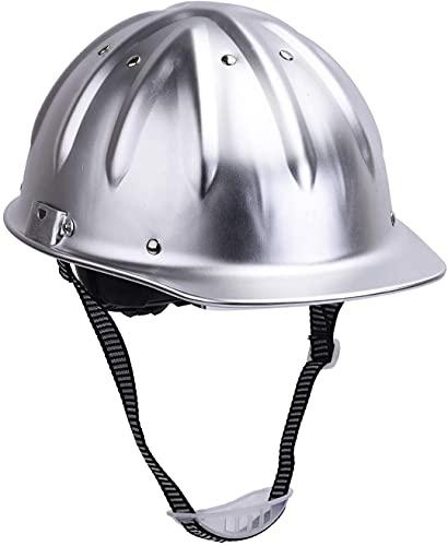 Safeyear Aluminium Schutzhelm Bauhelme mit Kinnriemen, hohe Sichtbarkeit, 4-Punkt-Vibrationsreduzierung Obere Verstärkung Cross + V Design Site Engineering Helme
