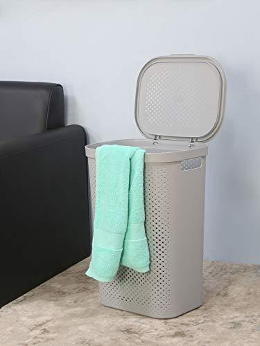 @home by Nilkamal Rectangular 58 Litre Laundry Basket (Grey)