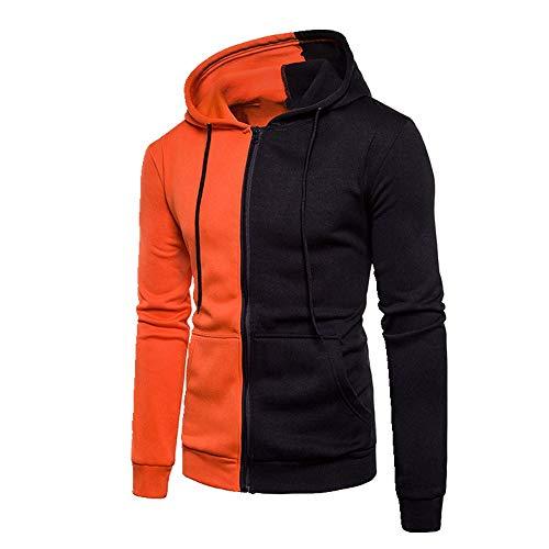 U/A Suéter deportivo con capucha para hombre, color a juego Naranja naranja L