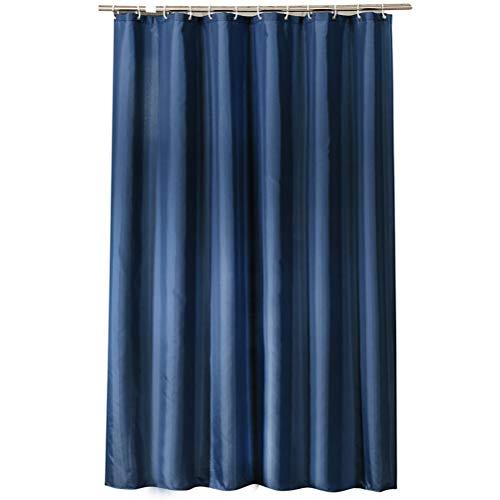 Duschvorhang mit 8 Haken, wasserdichter Badvorhang 120 x 180 cm, antibakterielle Vorhänge Badvorhänge Bad Antischimmel-Duschvorhänge, für Bad, Badewanne, wasserdicht (Blau)
