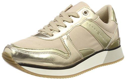 Tommy Hilfiger Damen METALLIC Sneaker, Beige (Sand 102), 40 EU