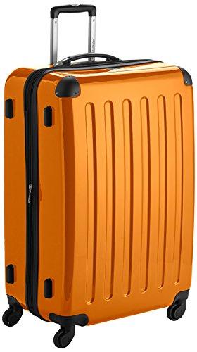 HAUPTSTADTKOFFER - Alex - Hartschalen-Koffer Koffer Trolley Rollkoffer Reisekoffer Erweiterbar, 4 Rollen, 75 cm, 119 Liter, Orange