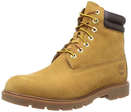 Timberland 6inch Basic, Botas de Moda Hombre, Wheat Nubuck, 42 EU