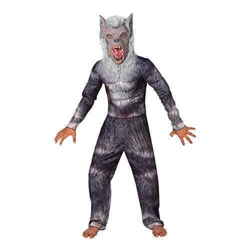 Morph Kinder Werwolf Kostüm für Karneval und Halloween - L (9 - 11 Jahre)