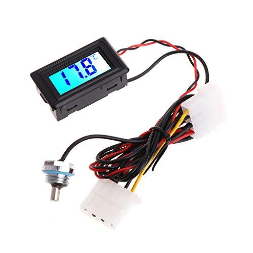 BIlinli Digital-Thermometer-Temperaturmessgerät G1 / 4 für PC-Computer-Wasserkühlung
