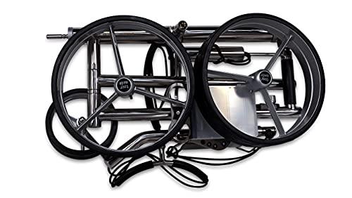 tour-made Haicaddy® HC7S Travel PRO Edelstahl Lithium Elektro Golftrolley - mit elektronischer Bergabfahrbremse (Rahmen gerade) - 3