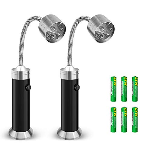 Barbecue Grill Light, Vocado BBQ Grill Light with 9 LED Bulb Ultra-Bright, Powerful Magnetic Base, 360 Degrees Flexible Gooseneck for Gas/Charcoal/Electric Grill, Restaurant, Batteries Included,2 Pack