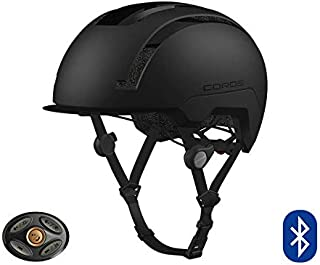 Coros SafeSound Urban Smart Cycling Helmet with Ear Opening Sound System, SOS Emergency Alert, and LED Tail Light | Bluetooth for Music and Phone Calls | Smart Remote | Lightweight