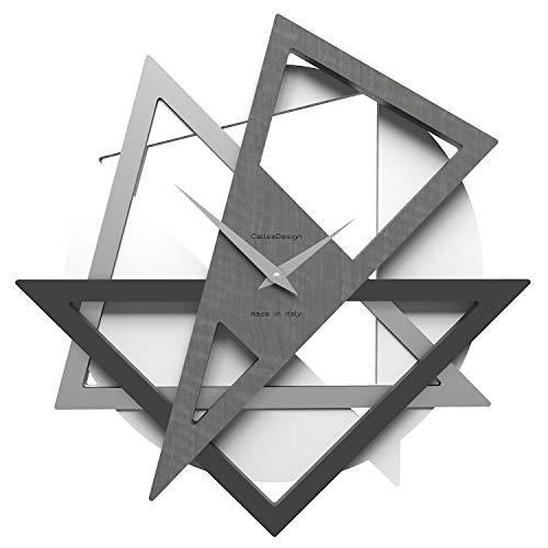 CalleaDesign - Geolo Wanduhr, graue Bruyere Farbe