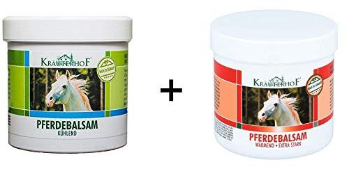 2 x Kräuterhof Pferdebalsam Balsam wärmend + kühlend Massage Gel Creme je 250ml