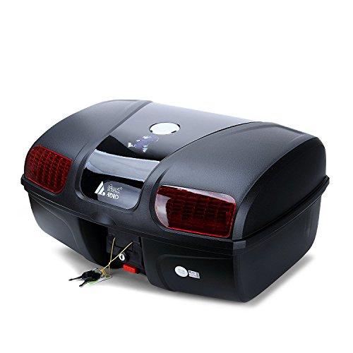 Motorradkoffer/Helmkoffer,AUTOINBOX 47 Liter Motorrad Kofferraum Gepäck Motorrad Top Back Box Hinterhelm Aufbewahrungskoffer