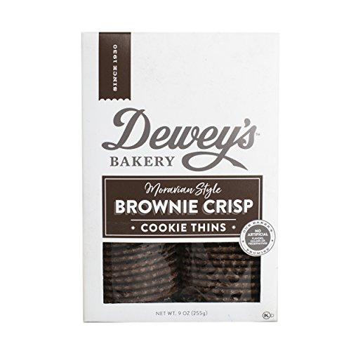 Salem Baking Co. Dewey's Brownie Crisp Moravian Style Cookie Thins 9 Ounce (Brownie Crisp)