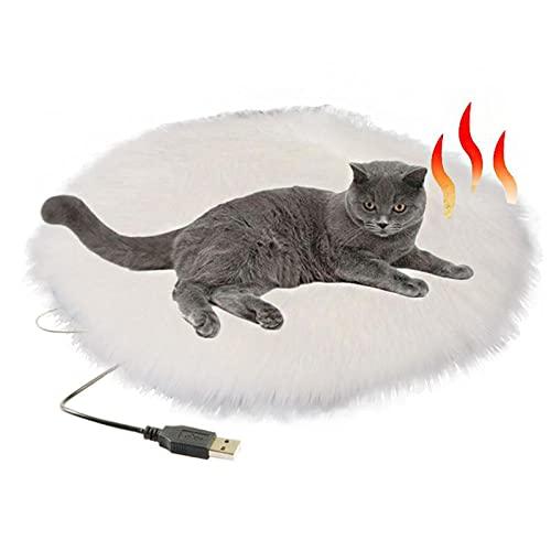Pet Riscaldamento Pad Interfaccia USB Temperatura Costante Peluche Impermeabile, Anti-graffio e Anti-perdite Piccolo Riscaldatore Stuoie (Colore: Bianco)