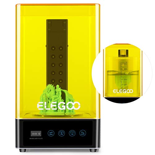 ELEGOO Mercury Plus 2 in 1 Waschen und Aushärten Maschine für LCD/DLP/SLA 3D Gedruckt Modelle Harz UV Härtungsbox mit Rotary Aushärten Drehscheibe und Waschen Eimer