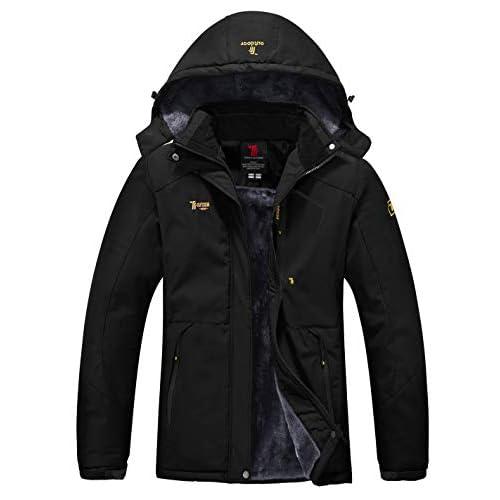 YSENTO Womens Waterproof Ski Jacket Winter Fleece Outdoor Mountain Jacket and Coat with Hood